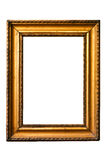 Retro golden old frame (No#9). Retro golden old frame, isolated on white Royalty Free Stock Photography