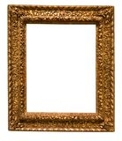 Retro golden rectangular frame for photography on isolated backg. Round Stock Photos