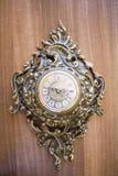 Retro goldish clock. Royalty Free Stock Images
