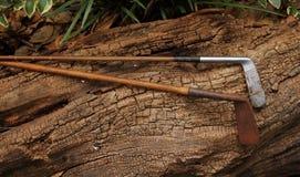 Retro golf clubs Stock Photography