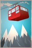 Retro gondola Stock Images