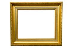 Retro gouden geïsoleerdn frame Stock Foto