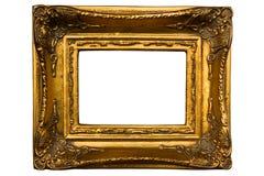 Retro gouden geïsoleerdt frame Royalty-vrije Stock Afbeelding
