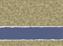 Retro gouden gekleurde uitnodiging. stock illustratie