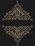 Retro gouden het ontwerpelement van de lijnenluxe Stock Afbeeldingen