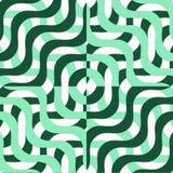 Retro- grüne gewellte Quadrate 3D Lizenzfreie Stockfotografie