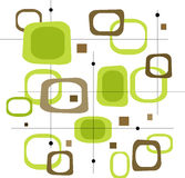 Retro- grüne Quadrate (Vektor) Stockbild