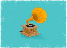 Retro gramaphone Royalty Free Stock Image