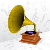 Retro grammofoon Stock Foto
