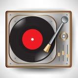 Retro grammofoon; draaischijf Stock Afbeelding