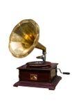 Retro grammofoon met schijf Stock Afbeelding