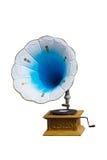 Retro grammofoon met schijf Stock Foto's