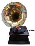 Retro gramophone. Old gramophone on white background royalty free stock photo