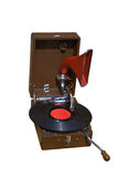 Retro gramophone with disc Royalty Free Stock Photo