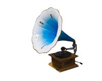 Retro gramophone with disc Royalty Free Stock Image