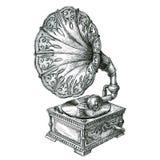 Retro gramophone isolated on white background Stock Photography