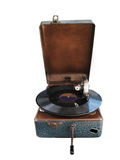 Retro gramophone or record player Royalty Free Stock Photo