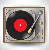 Retro gramophone; turntable Stock Image