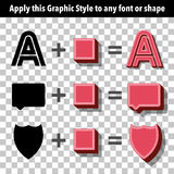 Retro Graphic Style for Text and Shapes Stock Image