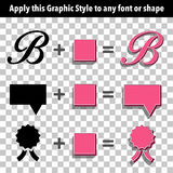 Retro Graphic Style for Text and Shapes Royalty Free Stock Photo