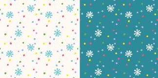 Retro grappig patroon voor vakantie met sneeuw vector illustratie