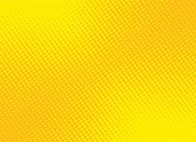 Retro grappige gele achtergrond halftone roostergradiënt, voorraad ve vector illustratie