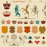 Retro gravyrer Royaltyfri Bild