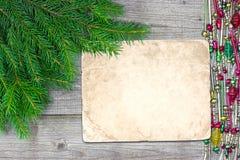 Retro greeiting kort för jul Arkivfoton