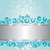 Retro green blue holiday vintage invitation background design Stock Image