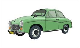 Retro Green Car Royalty Free Stock Images