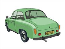 Retro Green Car Royalty Free Stock Photography