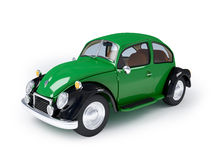 Retro green car. Green retro car from forties on a white background Royalty Free Stock Images