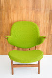 Retro green chair Stock Photography