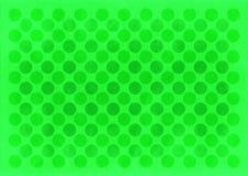 Vintage green circles pattern. Retro green circles pattern on a green background stock illustration