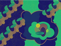 Retro Green Cloud Wallpaper Royalty Free Stock Photo