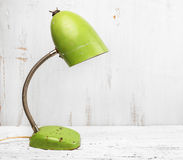 Retro green desk lamp Royalty Free Stock Photo