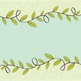 Retro green leaf background  Royalty Free Stock Images
