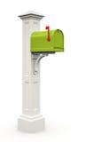 Retro green mailbox Stock Photo
