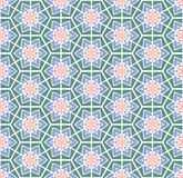 Retro green pink flowered pattern Royalty Free Stock Images