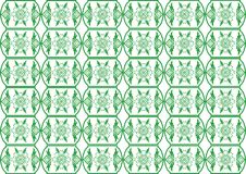 Retro green seamless flower pattern Stock Photo