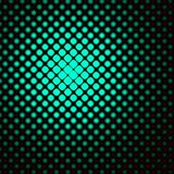 Retro Green Spots. Computer generated fractal black background with green, fading squares Royalty Free Stock Image