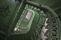 Retro, green staircase Royalty Free Stock Images