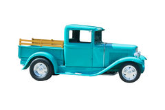 Retro green streetrod. Mint green streetrod with wooden stake bed sides Royalty Free Stock Photography
