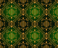 Retro green wallpaper. Seamless. Vector illustration Stock Photo