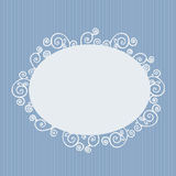 Retro greeting card. Graceful  retro vector greeting card in white and light blue Stock Photos
