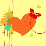 Retro greeting card Stock Images