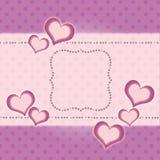 Retro greeting card Stock Photo