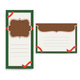 Retro greeting card template Stock Photo