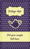 Retro greeting card template design Royalty Free Stock Images