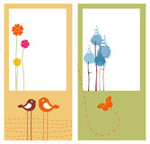 Retro greeting cards Stock Photos